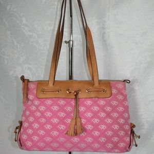 DOONEY AND BOURKE PINK CANVAS TOTE